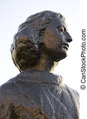 Statue of Anne Frank, Merwedeplein, Amsterdam