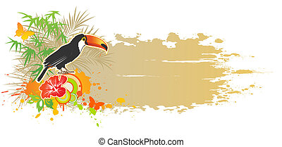 tropical summer background - vector tropical summer...