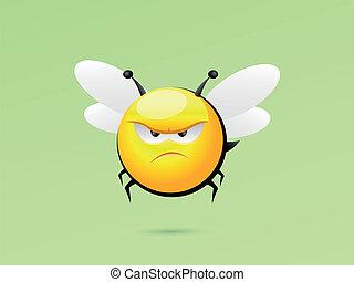 malhumorado, abeja