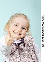 little girl - Portrait of lovely blond little girl