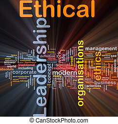 Ethical leadership background concept glowing - Background...