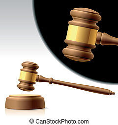 Judges gavel - Vector photorealistic illustration of a...
