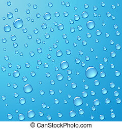 Photorealistic water drops - Vector photorealistic...