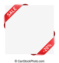 Sale ribbon - Vector illustration of a Sale ribbon