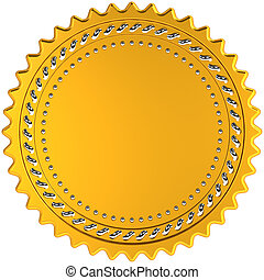 Award medal golden seal blank - Award medal seal golden...