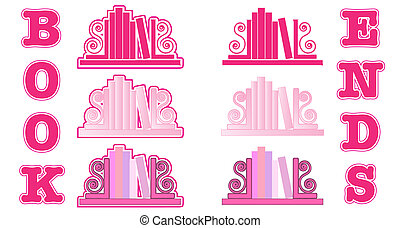 Pink Bookend icons