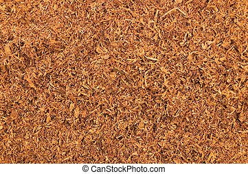 Cut Pipe Tobacco Texture Background Macro Closeup - Cut Pipe...