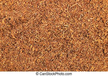 Cut Pipe Tobacco Texture Background Macro Closeup - Cut Pipe...