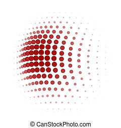 red dot halftone background - red dot halftone pattern on...
