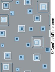 Retro blue squares - Seamless retro blue squares