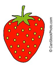 strawberry - Illustration of a large strawberry