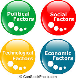 button PEST analysis concept icon - colored web button PEST...
