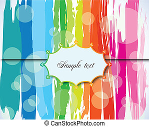Grunge Background with Label. Vector