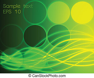 Abstract green wave. Vector