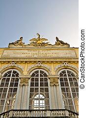 closeup of the gloriette in vienna