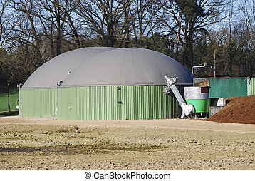 Green Energy - Renewable energy with biogas production