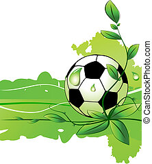 Vector soccer background - Abstract soccer background vector...