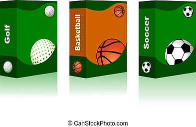 Sport box - Golf, Basketball, Soccer Ball