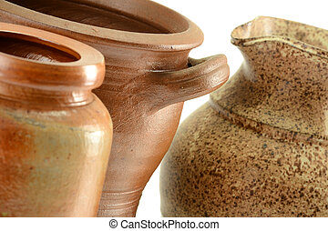 Old pottery. Kitchen dishes