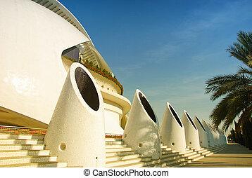 Valencia modern architecture - Futuristic City Landscape -...