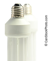Compact fluorescent lamp isolated on white Energy saving...