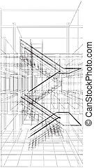 Abstract Construction Staircase