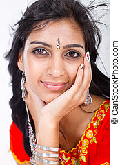 beautiful middle eastern woman studio portrait