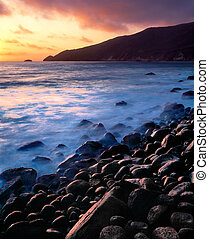 Sunset over Point Sal, California - Sunset and incoming fog...