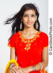young indian woman - beautiful indian woman wearing...