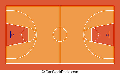 Basketball court - A diagram of a FIBA standard basketball...