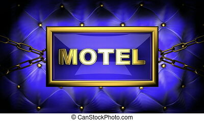 motel  on velvet background