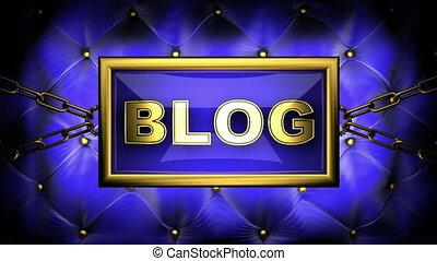 blog  on velvet background