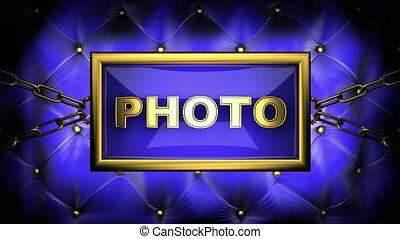 photo  on velvet background