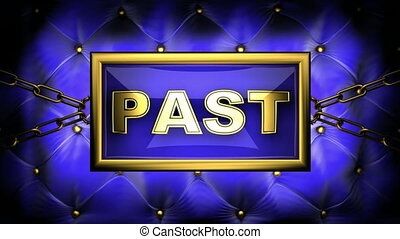 past  on velvet background