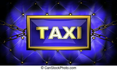 taxi on velvet background