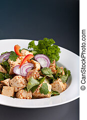 Thai Food Tofu Stir Fry - A freshly prepared Thai food stir...