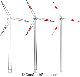 windmills in different styles