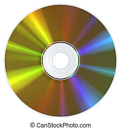 DVD - A DVD Disc with the typical appearance