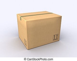 Cardboard Box - A Moving Box made of cardboard paper