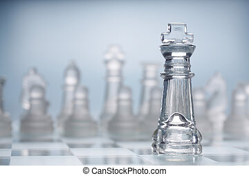 chess - stock images of transparent glass chess