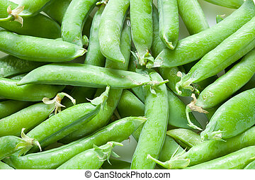 Green peas - A lot of fresh green peas close up
