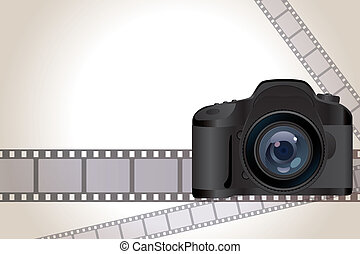 Camera and film background - Illustration vector