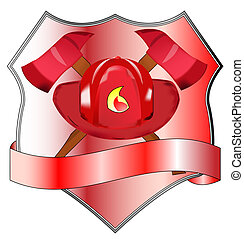 Fire department badge - Illustration of fire department...