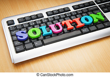 Solution concept with keyboard