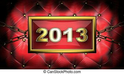 2013  on velvet background