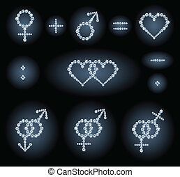 Gender symbols - The collection of some diamond symbols:...