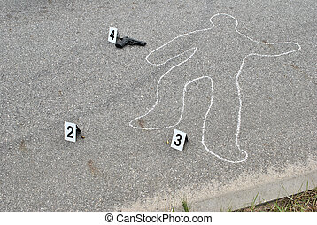 Crime scene - murder on the street