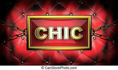 chic  on velvet background