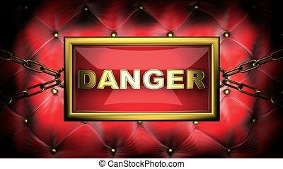 danger  on velvet background