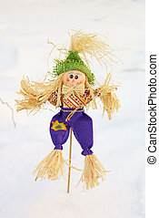 Scarecrow - End of the winter. Shrovetide. Scarecrow for the...